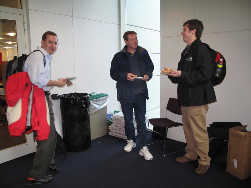 Milan Negovan, Mark Torrone and Rick Minerich - a well deserved break